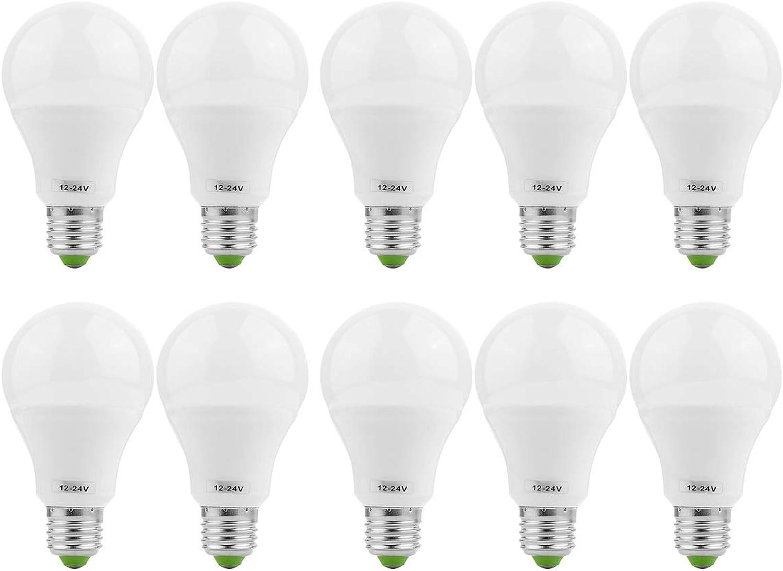 E26   E27 LED-Glühlampen 5730SMD 7W (70W Halogen-quivalent) Glühlampen Niederspannungs-Edison-geeignete AC-Gleichstrom-Einschraubglühlampen für netzunabhngige Solarbeleuchtung Marine-Stiefel für Camper