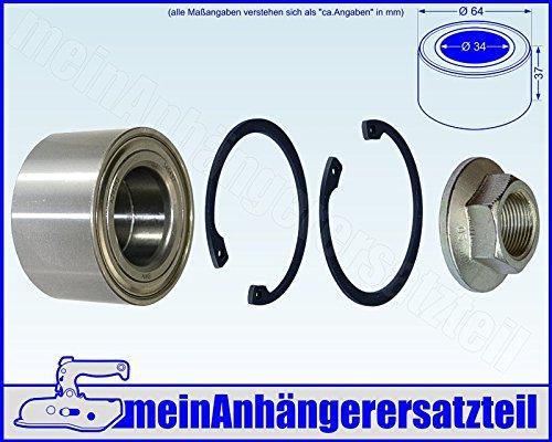 Kompaktlager Radlager Satz 34/64x37mm / 3464 / 34x64x37mm / 540466 wasserdicht