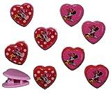 alles-meine.de GmbH 4 TLG. Set Haarclips - Disney Minnie Mouse - für Kinder Mädchen Schmuck Haarschmuck - Haarspangen Blumen rosa Maus Punkte Haarspange