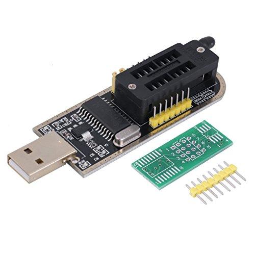 WINGONEER® EEPROM enrutamiento programador USB LCD CH341A escritor flash para el SPI 25 Serie 24