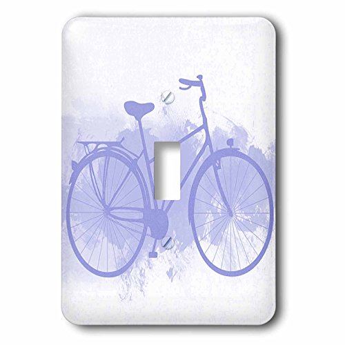 3dRose lsp_167583_1 Blue Bicycle on a Grunge Background Light Switch Cover