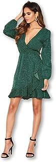 AX Paris Women's Polka Dot Frill Hem Dress