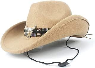 WUNONG-AU Authentic Men Women Autumn and Winter Fedora hat Black Cloth Bandwidth Side Jazz hat Outdoor Humbold Travel Woolen hat (Color : Khaki, Size : 56-58)