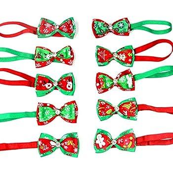Chytaii Cravate Noeud Papillon Tie Chien Collier Chat Chiot Noël Réglable Déguisement Accessoire Vêtements Costumes Mignons Multicolore Animal de Compagnie