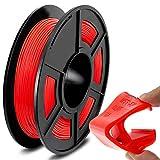 SUNLU TPU Flexible Filament 1.75mm for 3D Printer 500g/Spool Dimensional Accuracy +/-0.03mm, Red