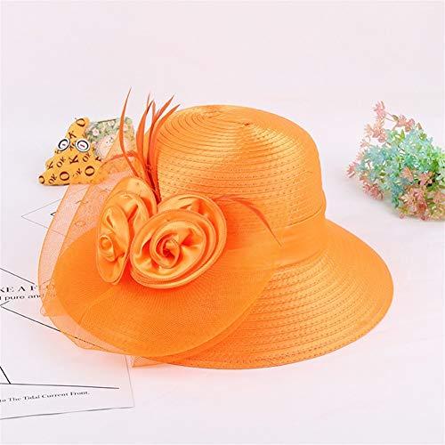Bin Zhang Cappello Nuovo Moda Fiori Americane Europee e Maglia Cappello Protezione Solare UV cap...
