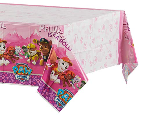 Amscan International 571665 Tafel Cover Paw Patrol, kunststof, 1,37 x 2,43 m