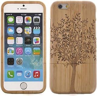 Semoss Ultra Slim Hecho a Mano Naturaleza Bambu Funda árbol para Apple iPhone 7 Madera Carcasa Bamboo Cover Piel Rigido Bumper Hardcase