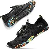 [SIXSPACE] マリンシューズ ウォーターシューズ アクアシューズ ビーチシューズ ヨガ 水陸両用 軽量 通気 男女兼用 水泳靴 スニーカー ブラック 27.5cm