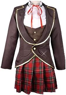 DOUJIONG Womens Ruby Weiss Blake Yang Cosplay Costume School Uniform Dress