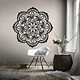 LSMYM Mandala vinilo Adhesivos de pared Creative Kids Room Living Room Home Decor Vinyl Sticker Mural yoga Wallpaper Gold L 43cm X 43cm