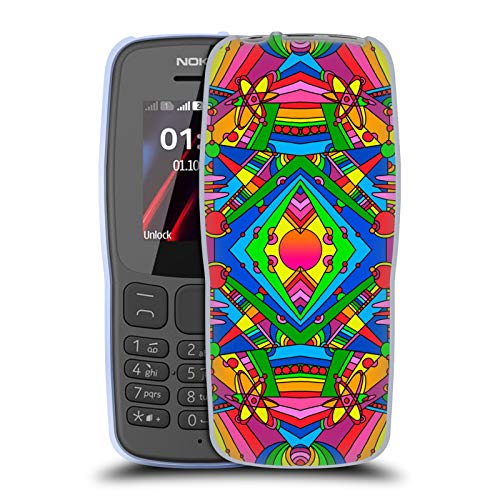 Officiële Howie Green Pop Art Retro 216 Patroon Soft Gel Case Compatibel voor Nokia 106 (2018)