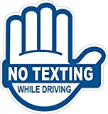 I Make Decals No Texting While Driving Sticker Blue, 4' High X 3.85' Wide