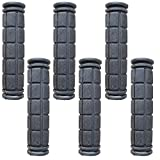 Lomodo 3 Pair Rubber Bicycle Handle Grips Non-Slip Soft Handlebar Grips for Boys Bike,Girls Bike and Mountain Bike Handlebar End Grips (4.53inch x 0.88inch,Black)