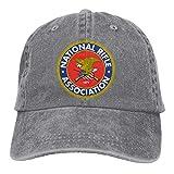 NRA National Rifle Association Logo Casquette Hat for Women's Women Hats Outdoor Adjustable Baseball Cap Unisex Caps Gray