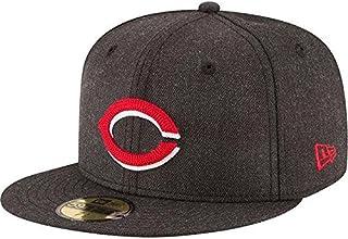 New Era New Era Cincinnati Reds Heathered Black Crisp 59FIFTY Fitted Hat 服 【並行輸入品】