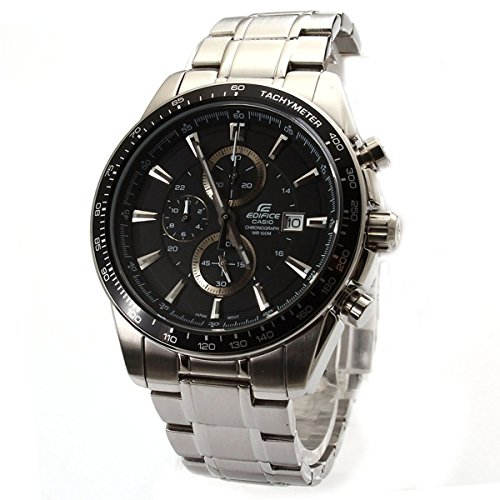 a79cfcd95 Casio Men's Edifice EF547D 1A1V Silver Stainless Steel Quartz Watch with  Black Dial