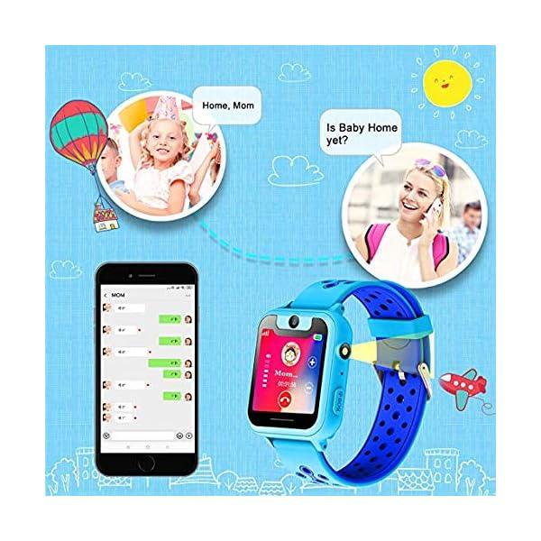 PTHTECHUS Telefono Reloj Inteligente LBS Niños - Smartwatch con Localizador LBS Juegos Despertador Camara Linterna per… 6