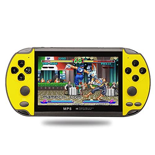 XUANWEI Consola de jogos X7 Plus de 4,3 polegadas Consola de jogos Nostalgic Classic Double Rocking HD Music portátil LCD 8G