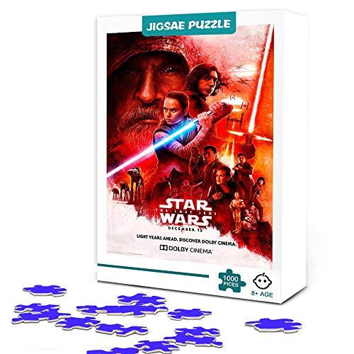 zhangkk Rompecabezas de 1000 Piezas para Adultos Star Wars: The Rise of Skywalker-Bo Dameron Puzzle de 1000 Piezas Juegos FamiliaresRompecabezas deMadera 1000 Piezas Decoración del hogar 75x50cm