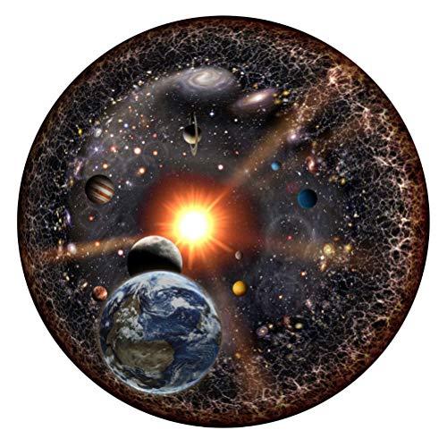 Rundes Puzzle, 1000 Stück Rundes Puzzle Universum Sonnensystem Planet mit Sonne Erde DIY Rundpuzzlespiel Intellektuelle Spiele Kinder Geschenk Erwachsene Dekompression Spielzeug Heimtextilien