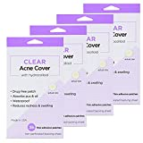 144 Count - Clear Acne Cover with Hydrocolloid Pimple Absorbing Patch Sticker