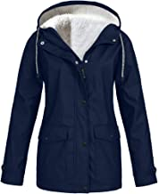 TOTOD Women Woolen Plush Thickening Jackets S~5XL Outdoor Plus Size Hooded Windproof Coats