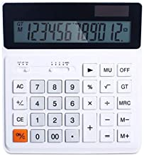 $39 » Multifunctional Office Business Calculator Student Simple and Stylish Portable Solar Widescreen Dual Power Desktop Study S...