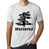 Hombre Camiseta Vintage T-Shirt Gráfico Time For New Advantures Palma de Mallorca Blanco Moteado