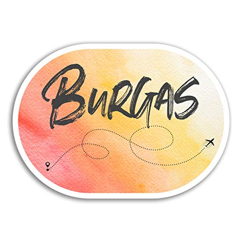 2 x 10cm Burgas Vinyl Stickers - Bulgaria Travel Sticker Luggage Laptop #17905 (10cm Wide)