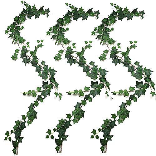 JVSISM 3Pcs Artificial Plants Ivy Wedding Garland Greenery Fake Hanging Foliage Vine for Wedding Garden Wall Decor