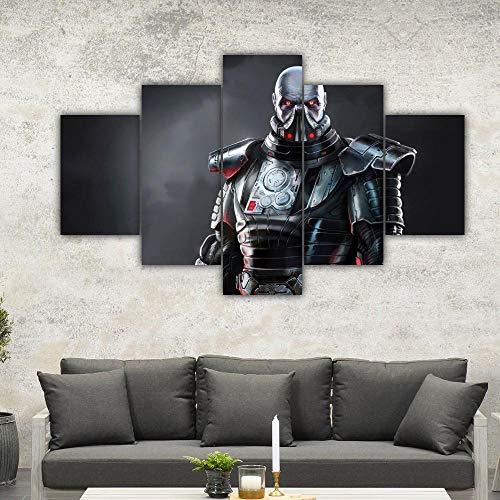 IKDBMUE 5 teiliger Kunstdruck auf Leinwand Star Wars Darth Malgus Wandbild, Öl-Landschaftsbilder für zuhause, Moderne Dekoration für Wohnzimmer
