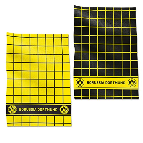 Borussia Dortmund, BVB-Geschirrhandtuch (2er-Set), Schwarz / Gelb, 0