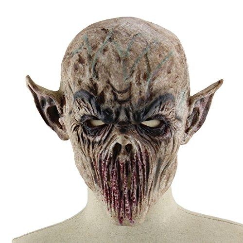 YAHUA Latex Maske Horror Maske für Halloween Cosplay Partei-Kostüm-Abendkleid
