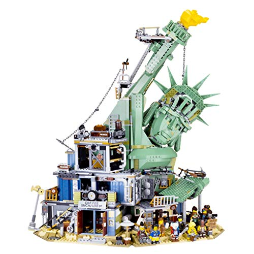 SLL Juguetes Castillo del Fin del Mundo se derrumbó Estatua de la Libertad del Fin del Mundo City difíciles de Montar Bloques de construcción Juegos de construcción