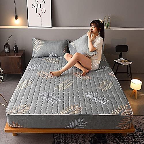 XGguo Protector de colchón, algodón, poliéster, Sábana Gruesa de una Sola Pieza a Prueba de Polvo-5_1.8 * 2.0m
