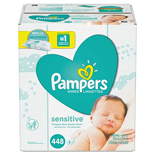 Pampers Wipes 7X Pk, 448 Ct
