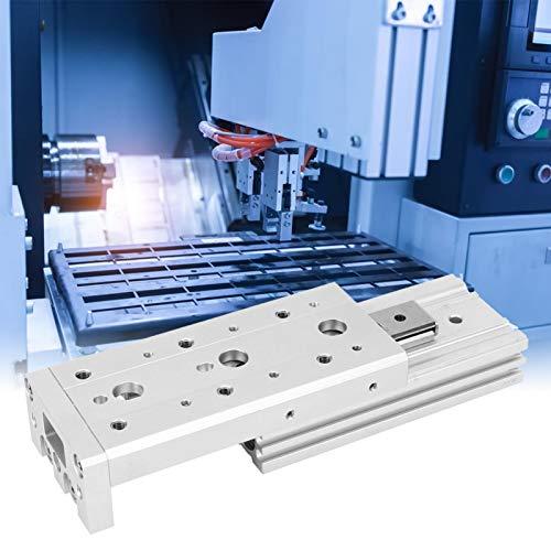Faceuer Cilindro de Aire neumático, Cilindro de Aire de Doble acción de Alta precisión con Anillos magnéticos para Productos químicos para ensamblaje de precisión para la Industria(MXS12-10)