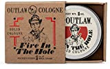 Outlaw Fire in the Hole Campfire Solid Cologne - Explosively Awesome Cologne - Campfire, Gunpowder, Sagebrush, Whiskey, and Weekend Camping in a Pocket-Sized Tin - Men's or Women's Cologne - 1 oz.