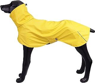 Marscharm 犬 レインコート 犬カッパ 犬服 犬ジャケット ペット雨具 軽量 防水 犬コート 犬用雨合羽 梅雨対策 雪対策 着脱簡単 ドッグ レインコート 小型 中型 大型犬用 (イエロー, XL)
