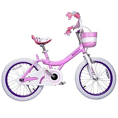Royalbaby Girls Bike Bunny 18 Inch Girl's Bicycle With Kickstand Basket Child's Girl's Bike Pink
