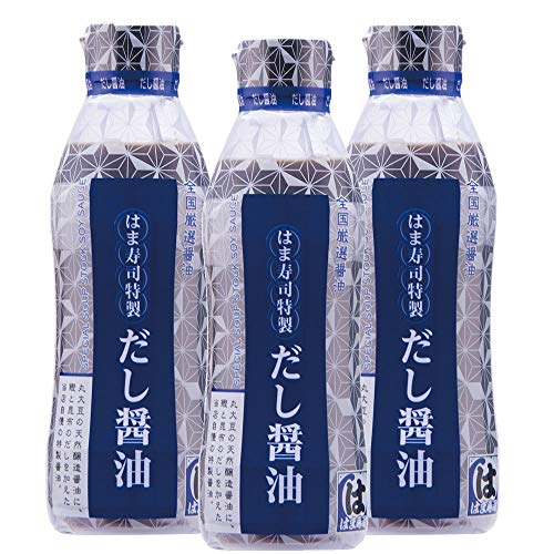 はま寿司 特製だし醤油 3本 [360ml] 密封ボトル 常温商品