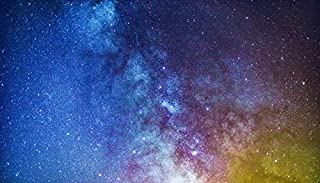 YYAYA.DS Starry Sky Milky Way Glitter Stars Space. - Art Print Silk Fabric Cloth Rolled Wall Poster Print 24x13 Inches