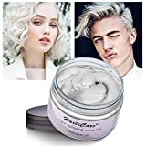 Temporary Hair Color Dye One Day Hair Color Temporary Hair Color Hair Wax Color for Men Kids Hair Dye for Halloween Party Cosplay (White)