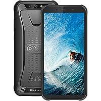 Telefonos Resistentes,Blackview BV5500Plus Android 10.0,5.5 Pulgadas Dual SIM Teléfono Robusto,3GB+32GB, 4G Dual SIM, 8MP+5MP, 4400mAh Batería, NFC/ID de Rostro/GPS (Negro, BV5500Plus)