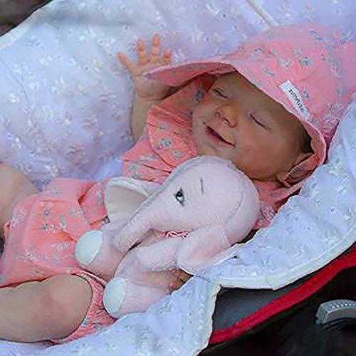 Reborn-Puppen Baby, Kleinkind Jung Pflegende Zubehör Spielzeug Flasche Stofftiere Silikon Ganzkörper-Kleinkind-Leben 18 Zoll