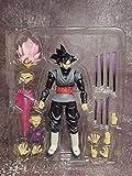 Dragon Ball SHF Zamasu Goku Black Battle Scence Cosplay Decor Giocattoli da collezione, Bambini Dragon Ball Super Model Dolls Zamasu Action Figures