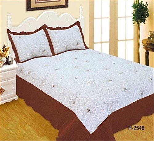 ForenTex- Colcha Boutí Cosida y Bordada, (H-2548), cama 150 cm, 240 x...