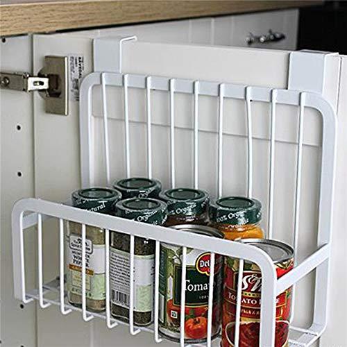 Trihedral-X Scaffali for Alimenti in Acciaio al Carbonio, Contenitore for condimenti, contenitori for condimenti, Supporti for Organizer for Ganci a Parete (Color : White)
