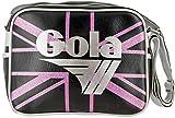 Gola Tasche Micro UJ Redford Sparkle Schwarz/Baby-Rosa/Silber Glitter Mädchen 23x18 cm